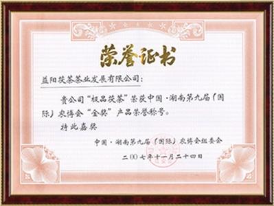 湖南(国际)农博会金奖